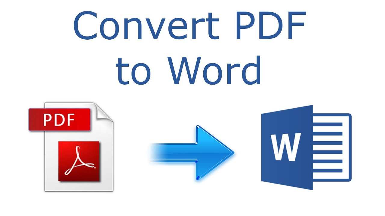 Convert your PDF document to Word