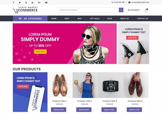 create a professional wordpress website or online store