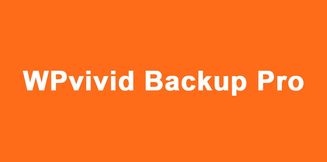 Install WPvivid Backup Pro WordPress Plugin on your website
