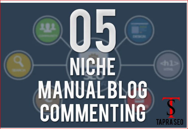 I Will do 5 niche manual themed blog commenting