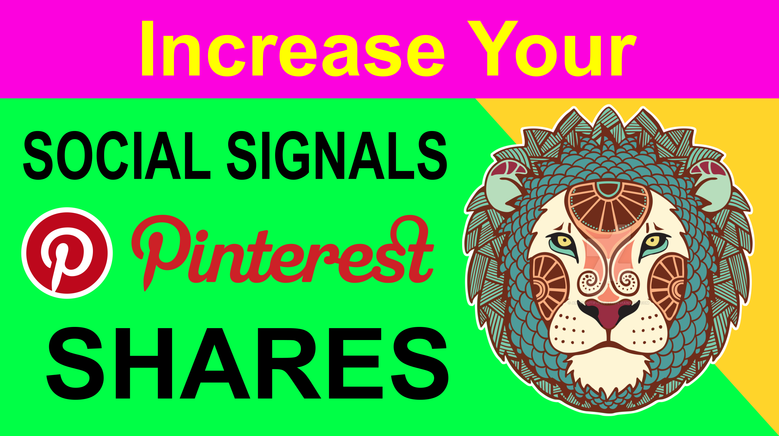 14,500 pinterest Social Signals share Mix to boost visibility in Social Networks