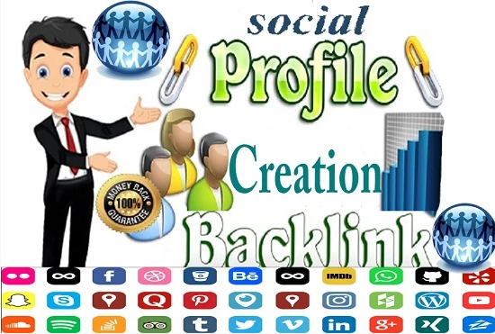 I will do 25 social profile creation backlinks for your website