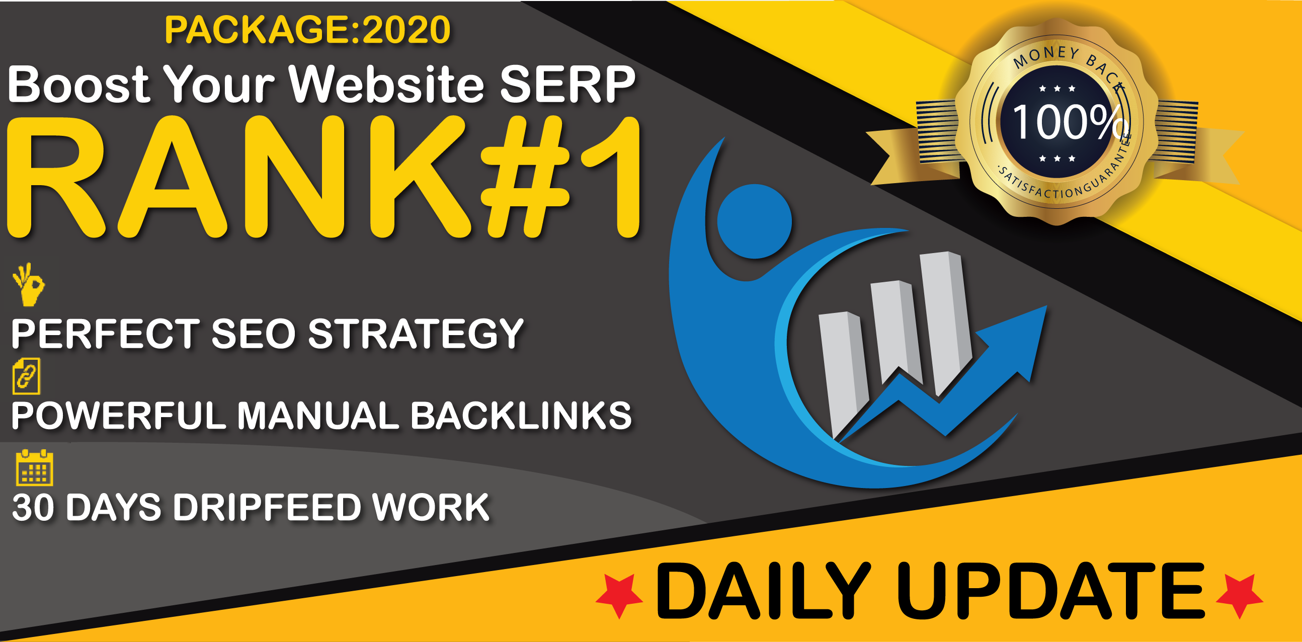 2020 SPECIAL-Powerful Seo Package With Rankings Google 1st Page Or Refund