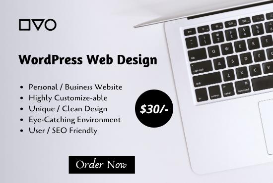 I will develop stunning wordpress website