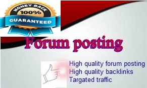 Promote your website with HQ forum posting