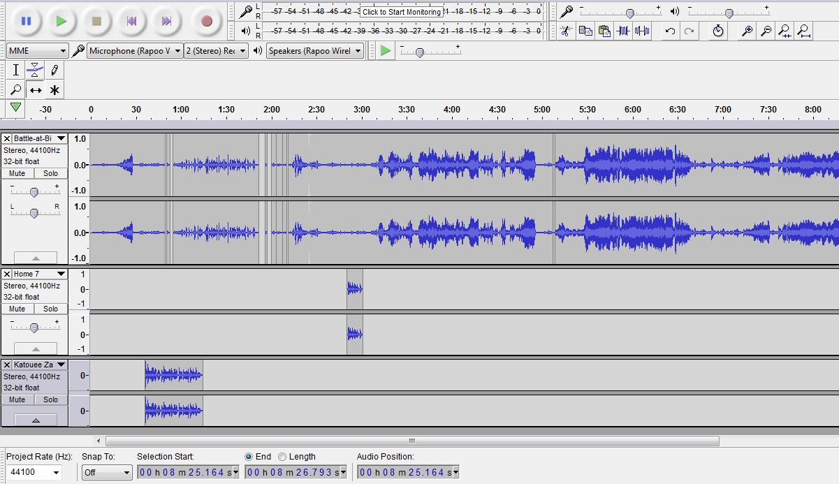 I can Edit your audio record with Audacity