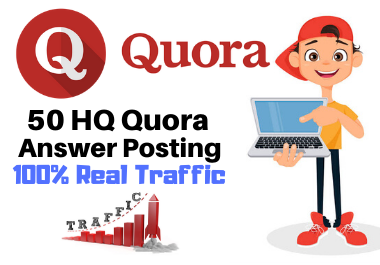 GET High Quality 50 Quora answer with Clickable Links