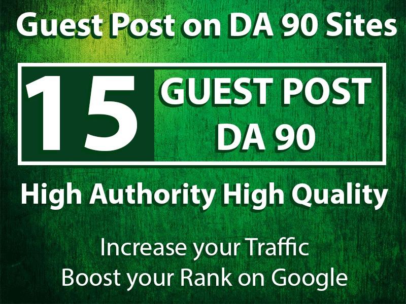 Get 15 Guest Posts on High DA Sites