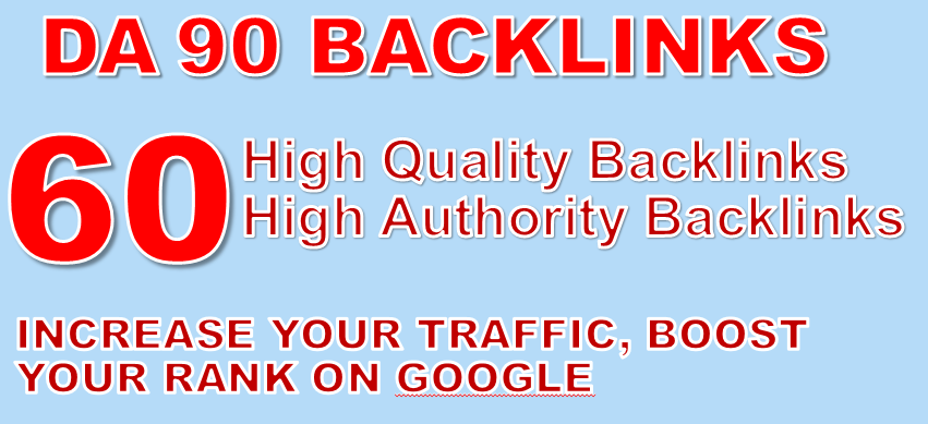 Built 60 SEO BackIinks on DA 90 sites