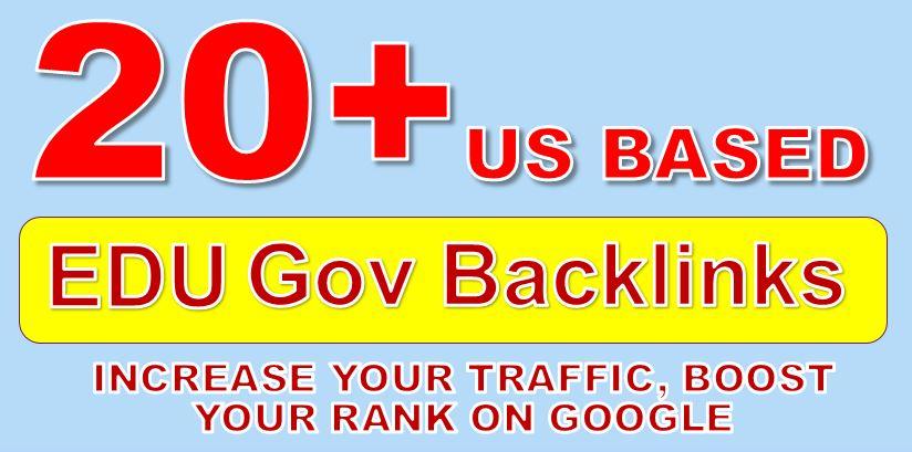 Get PR9-4 20+ US Based EDU. GOV High Authority Backlinks