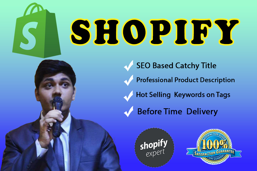Get SEO friendly 50 product descriptions,  optimized title and tags