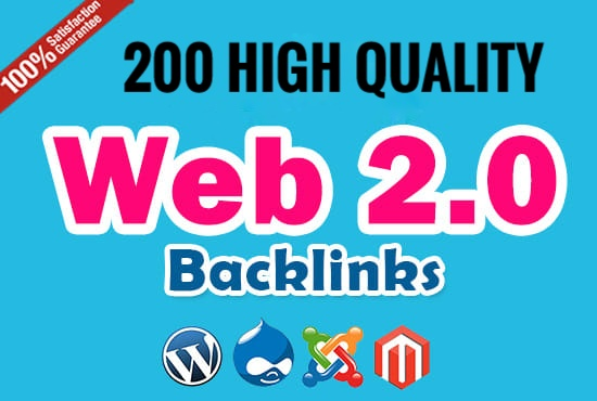 I Will Provide You 200 Web 2.0 backlinks Ranking Fast
