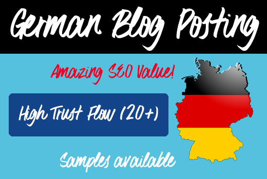 German Blog Posts with 20+ Trust Factor