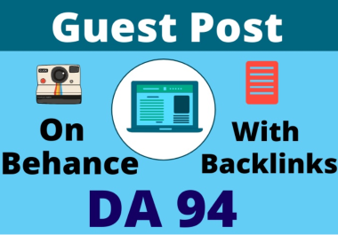 Write & Publish Guest Post on Behance. Com SEO Powerful Backlink
