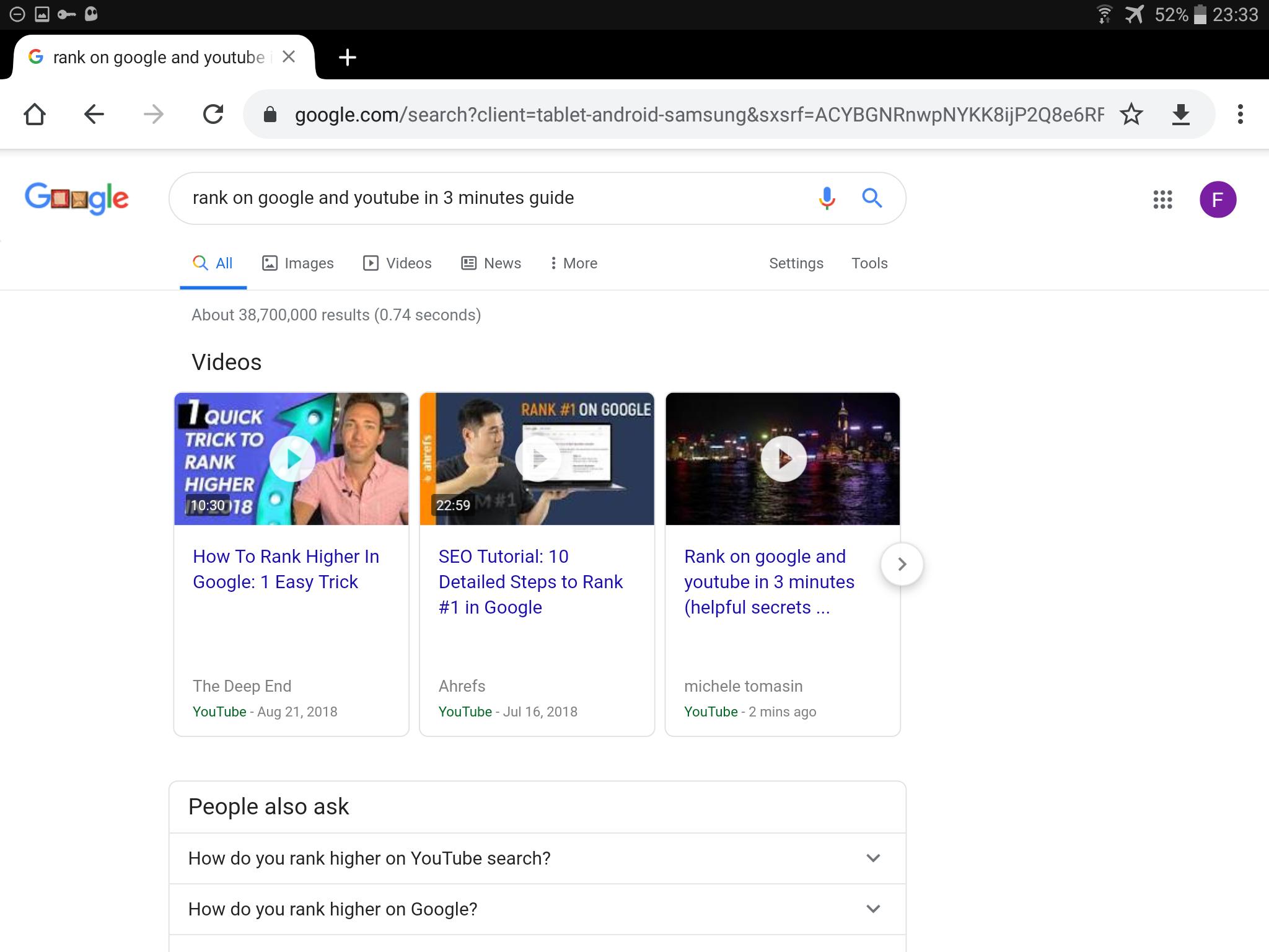 Rank video youtube google unlimited keywords