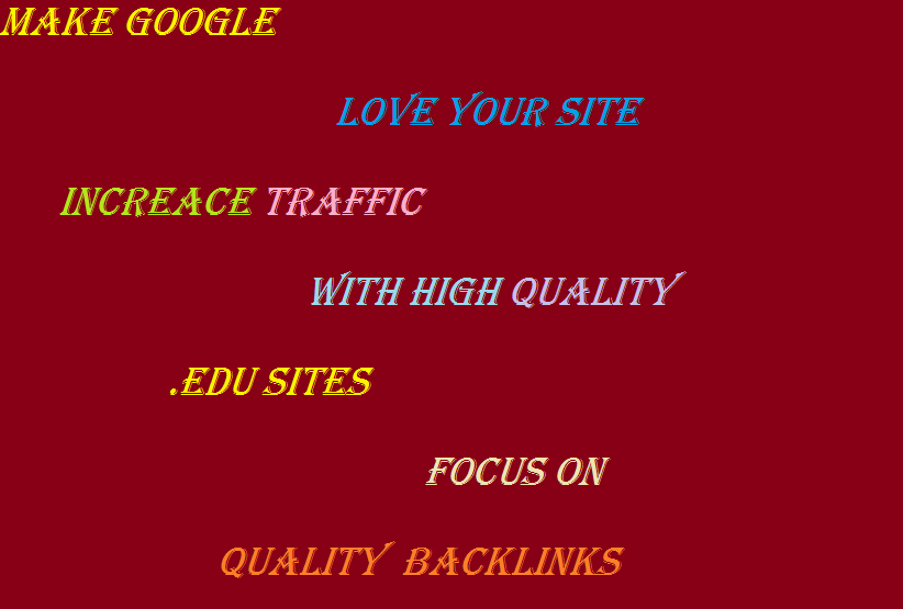 Make High Quality Dofollow Backlinks From High DA. EDU Sites And Boost Your Ranking