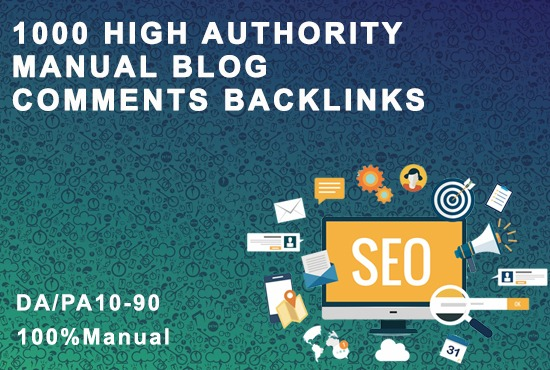 I will do high authority manual blog comments backlinks