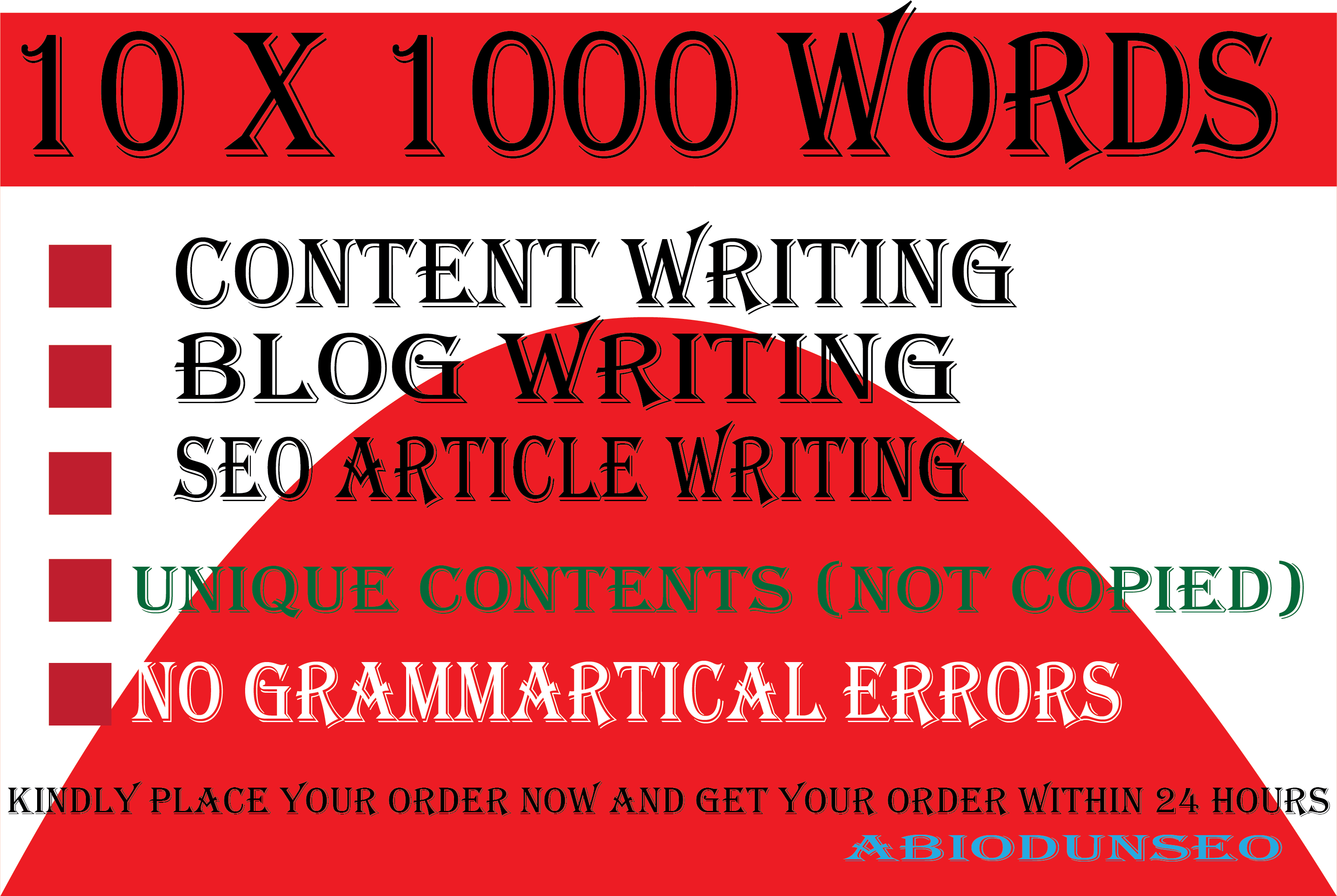 I will write 10 X 1000 words quality blogs post,  SEO content and articles writing for your website