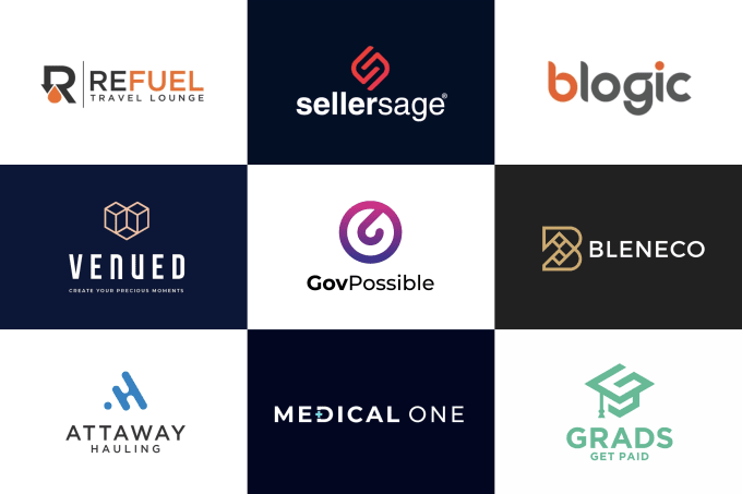 I will create modern minimalist business logo design for you