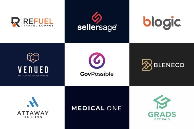 I will create modern minimalist business logo design for you