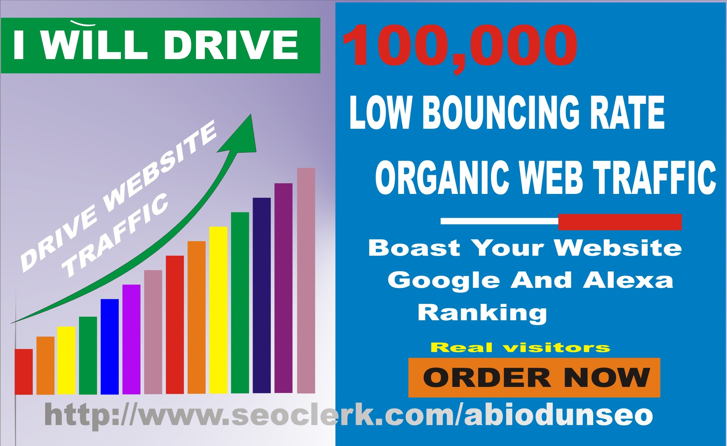 Get 100,000 organic traffic to your website/blog