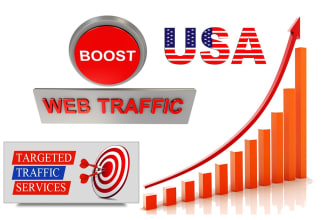 5,000 USA organic targeted web traffic and real visitors to your website