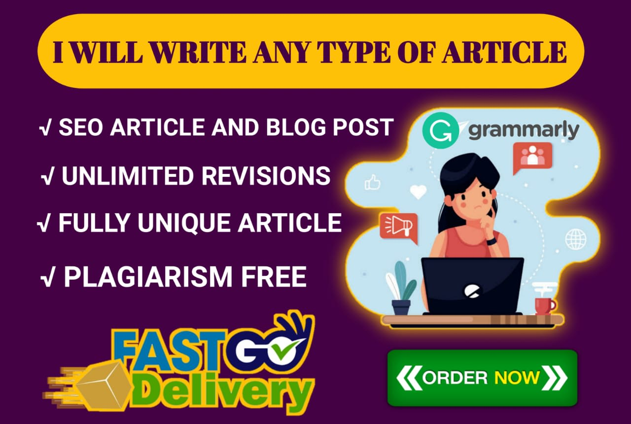1000 words SEO Articles writing Blog post and website contents writing