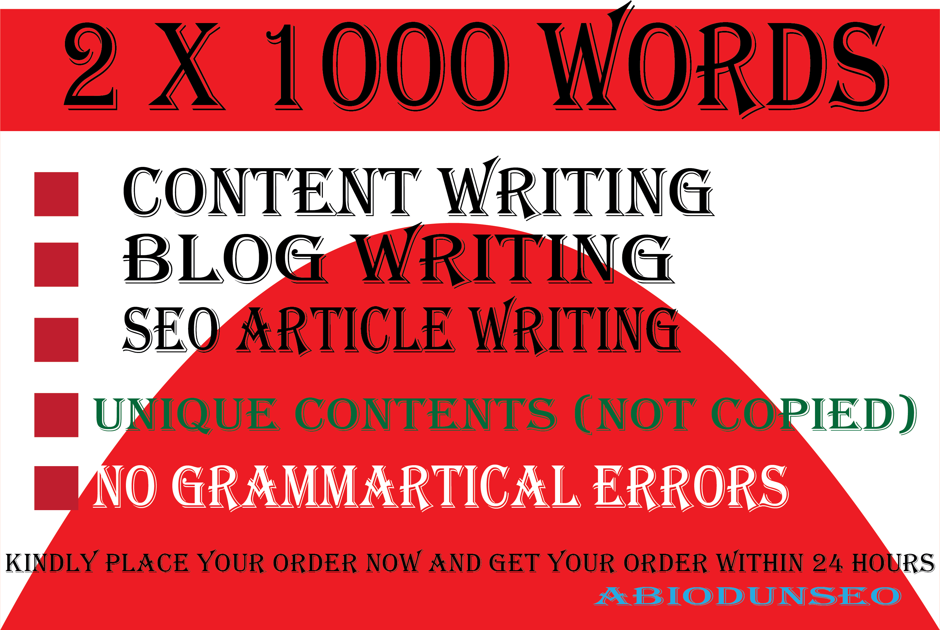 I will write 2 x 1000 words Write amazing article writing SEO friendly and content writing