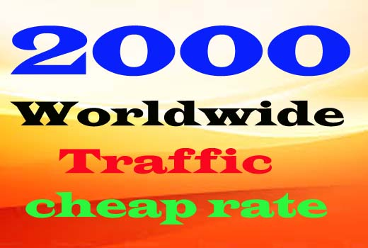 Get 2000+ worldwide traffic for your website or blog.