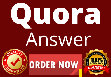 High quality 5 Quora Answer with website keyword & URL