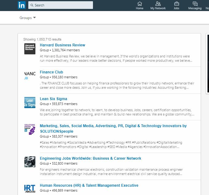 Post your info/Link in LinkedIn group