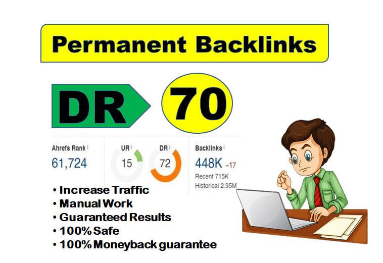 I will make 10 DR 70+ permanent PBN Links