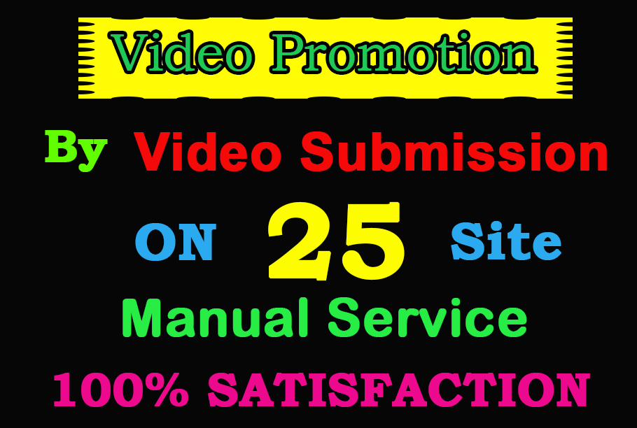 I will do video submission on high PA video sharing sites by manually submission