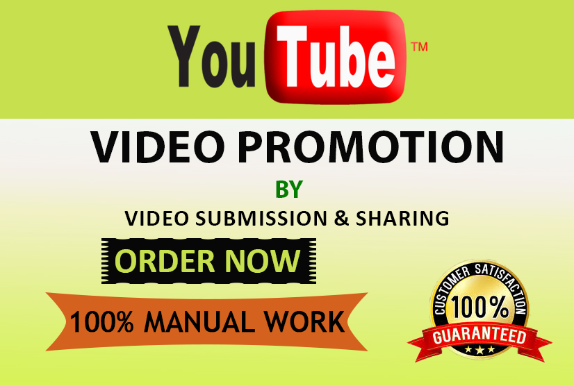 I will do youtube video promotion on high 130 sharing sites by manual submission