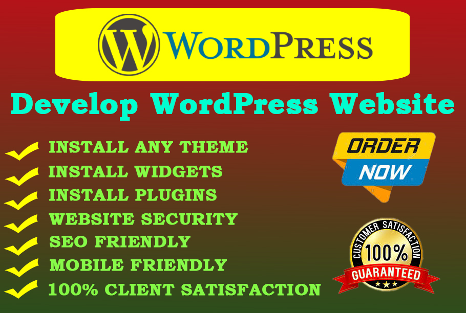 I will develop professional & responsive WordPress website in your less budget