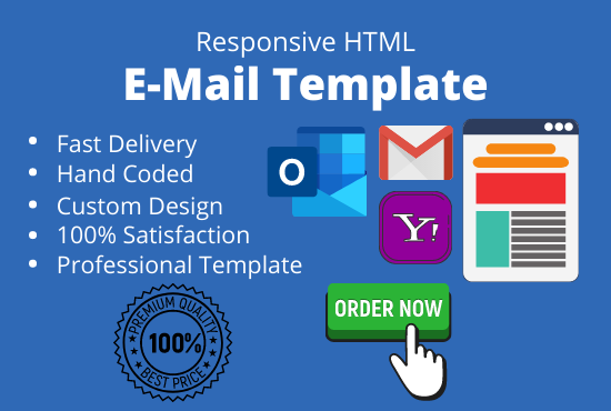 I will create or design responsive html email template