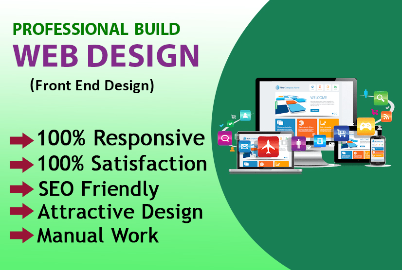 I will do build attractive website design and web pages