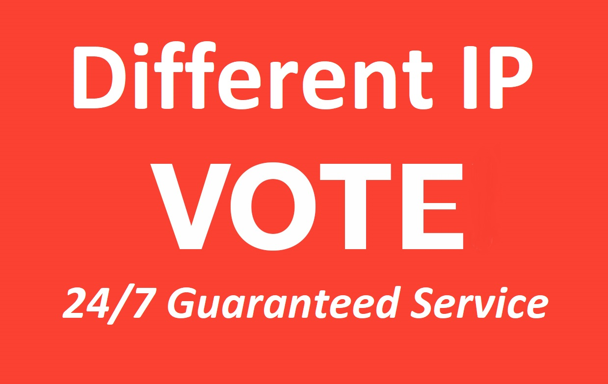 Guaranteed 500 Different IP Votes In Your Online contest