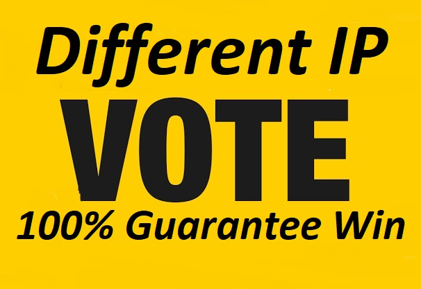 I will provide 500 different IP Votes in your online voting contest