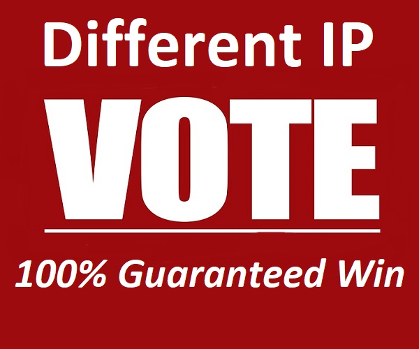 Super Fast 500 Different IP Votes in Your Online Contest