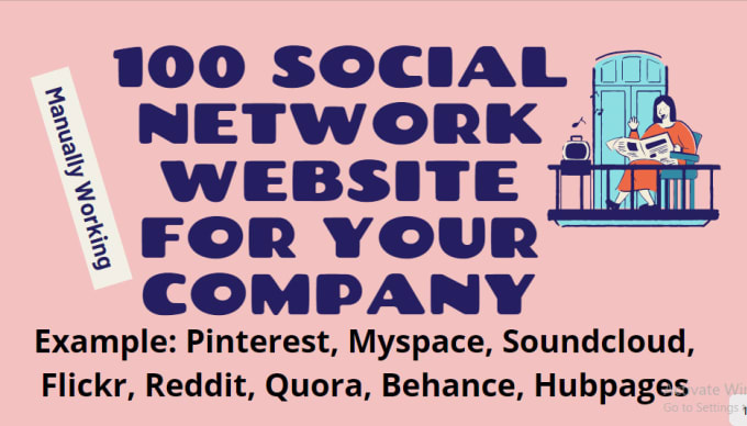 I will give 100 social network website for your company