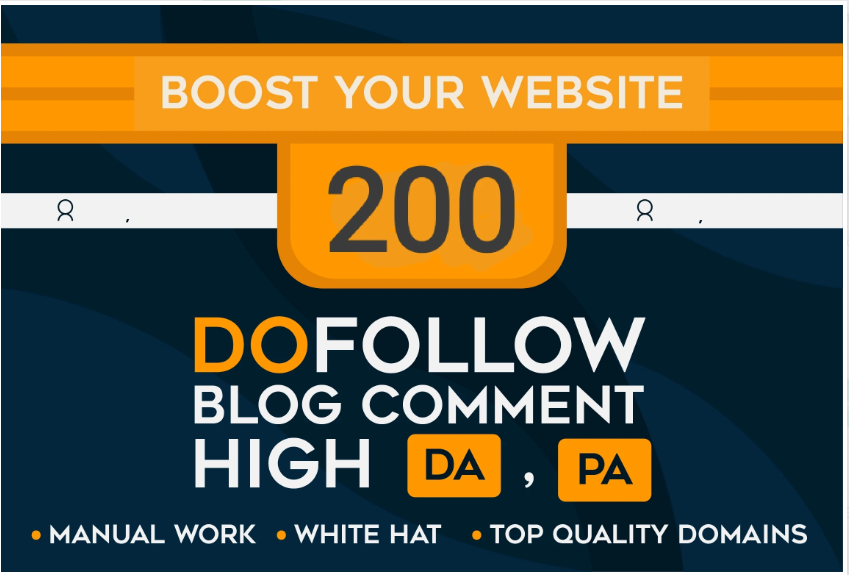 Add 200 Dofollow Blog Comment Quality Backlinks On Actual Page With High DA-PA-TF 100-60