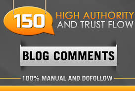 I will 150 blog comment 100 manual and dofollow DA 30 plus