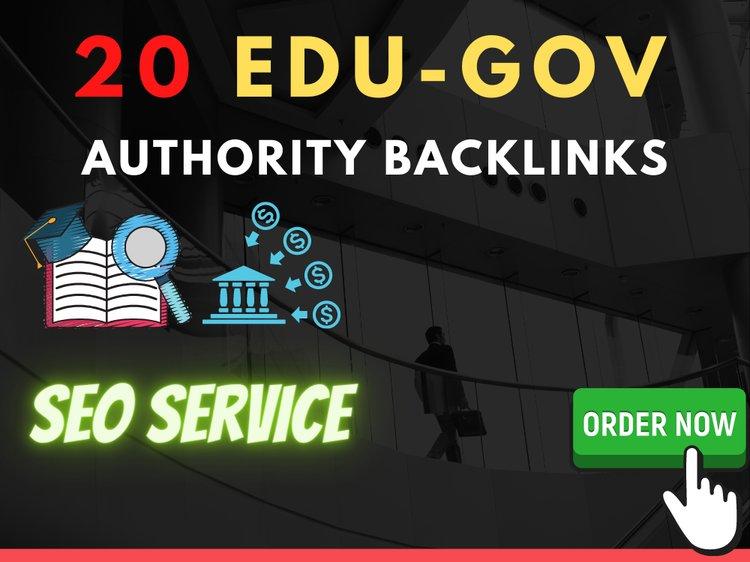 I will do 20 EDU-GOV unique domain high quality blog comment backlinks DA 30+