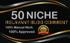 50 niche blogcomments high authority DA PA nich relavent backlinks 100 Manually work