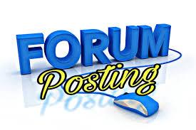 I will do 40 forum posting backlinks High quality