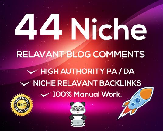 44 Manual Niche Relevant blog comment