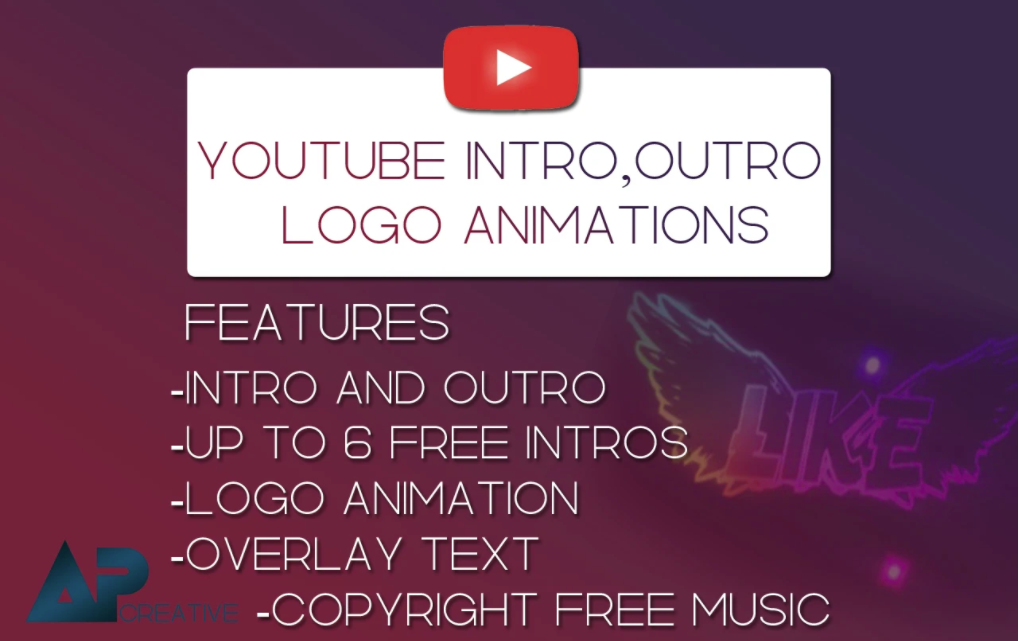 i will create amazing intro or outro for youtube