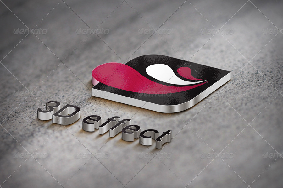i will make your logo 3d mockup