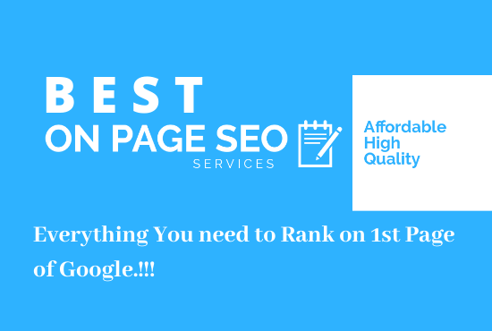 Complete On Page SEO Optimization for 1st Page Ranking on Google